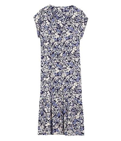 Madewell Short Sleeve Printed Midi Dress (Packed Floral Fresh) Women