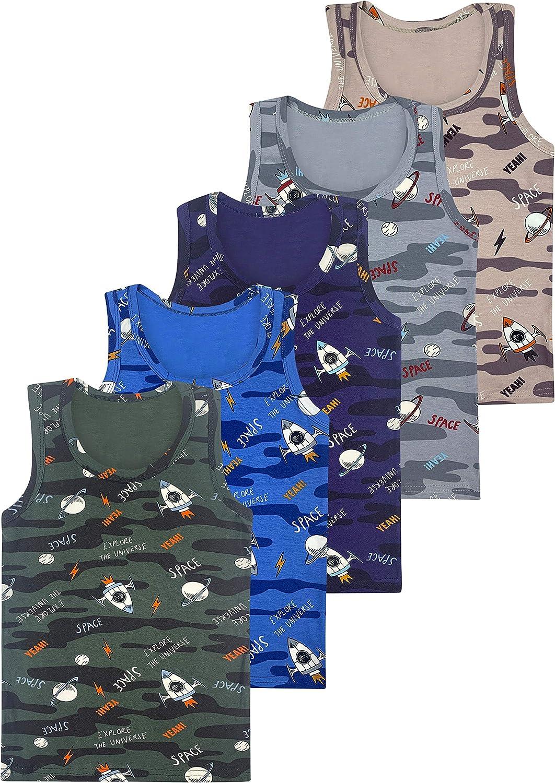 D/ébardeur en Coton LOREZA /® 5 sous-v/êtements de gar/çons Coton Basics Tailles 2 /à 15 Ans
