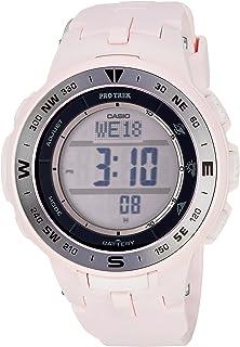 Women's Pro Trek Quartz Watch with Resin Strap, Pink, 22.5 (Model: PRG-330-4CR)