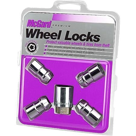 McGard 24137 Chrome Cone Seat Wheel Locks (M12 x 1.5 Thread Size) - Set of 4