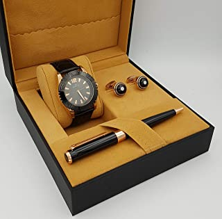 Diamond Dior Watch Set For Men Analog Leather - D0946394