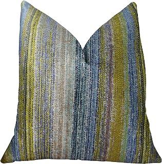 Plutus Brands Plutus Clear Shore - Almohada Hecha a Mano con Mostaza Azul y Lavanda, 50,8 x 50,8 cm