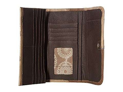 Genuine Online Clearance Fashion Style American West Annie's Secret Collection Trifold Wallet Sand/Distressed Charcoal Brown/Light Blue Sale Online Shopping Cheap Sale Original nClEZimqWq
