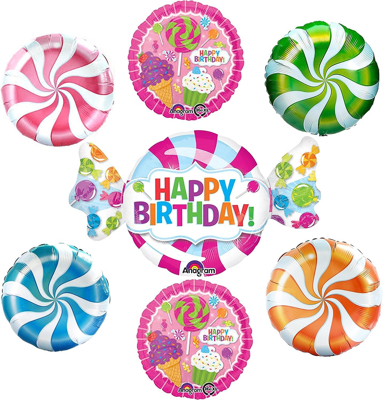 Candy Swirl Fun Happy Birthday Balloon Kit by supplies