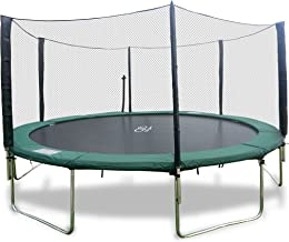 Happy Trampoline - Galactic Xtreme Gymnastic Round Trampoline with Safety Net Enclosure - Heavy Duty Gymnastic Commercial Grade - 550 lbs Jumping Capacity on Frame & Springs