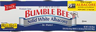 BUMBLE BEE Solid White Albacore Tuna In Water, Canned Tuna Fish, High Protein Food, Wild..