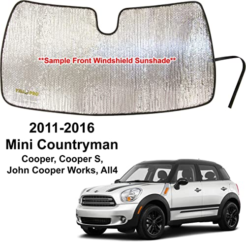 new arrival YelloPro Custom Fit Front Windshield Reflective Sunshade for discount 2011 2012 2013 2014 2015 2016 Mini Countryman Cooper, Cooper S, sale John Cooper Works, All4, Sunshade Protector Accessories [Made in USA] outlet online sale