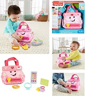 NEW! Fisher-Price - LAUGH and LEARN MY SMART PURSE - This Adorable Purse Helps Your Baby Learn About Numbers, Colors, Opposites and More, While Offering Up Fun Early Role Play!