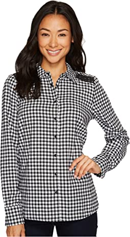 Check Shirt with Long Sleeve and Lace Detail
