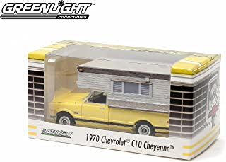 1970 Chevrolet C10 Cheyenne with Camper Yellow Limited Edition Hobby Exclusive) 1:64 Scale 2014 Greenlight Collectibles Die Cast Vehicle