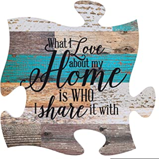 P. Graham Dunn What I Love About Home is Who I Share it with Multicolor 12 x 12 Wood Wall..