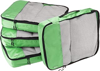 AmazonBasics 4-Piece Packing Cube Set - Large, Green