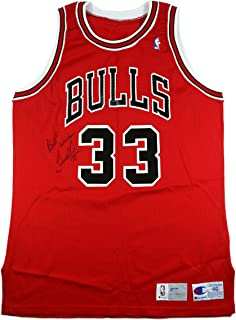 SCOTTIE PIPPEN SIGNED 1991-1992 GAME USED WORN CHICAGO BULLS NBA HOME JERSEY 0c8a1ee89