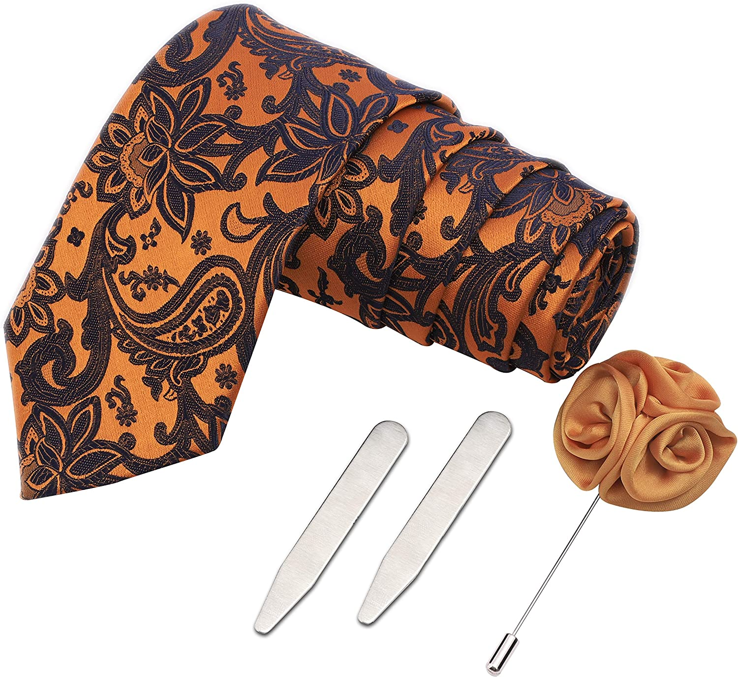 Peluche The Red Knot Gift Box Includes 1 Neck Tie, 1 Brooch & 1 Pair of Collar Stays for Men
