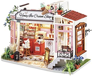 Rolife DIY Miniature Dollhouse Kit with LED 1/24 Scale Tiny House Making Kit Home Decor Gifts for Adults & Teens (Honey Ic...