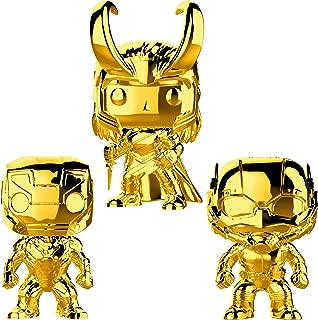 Funko Marvel: Pop! Marvel Studios 10 Gold Chrome Collectors Set 1 - Iron Man, Ant-Man, Loki Toy