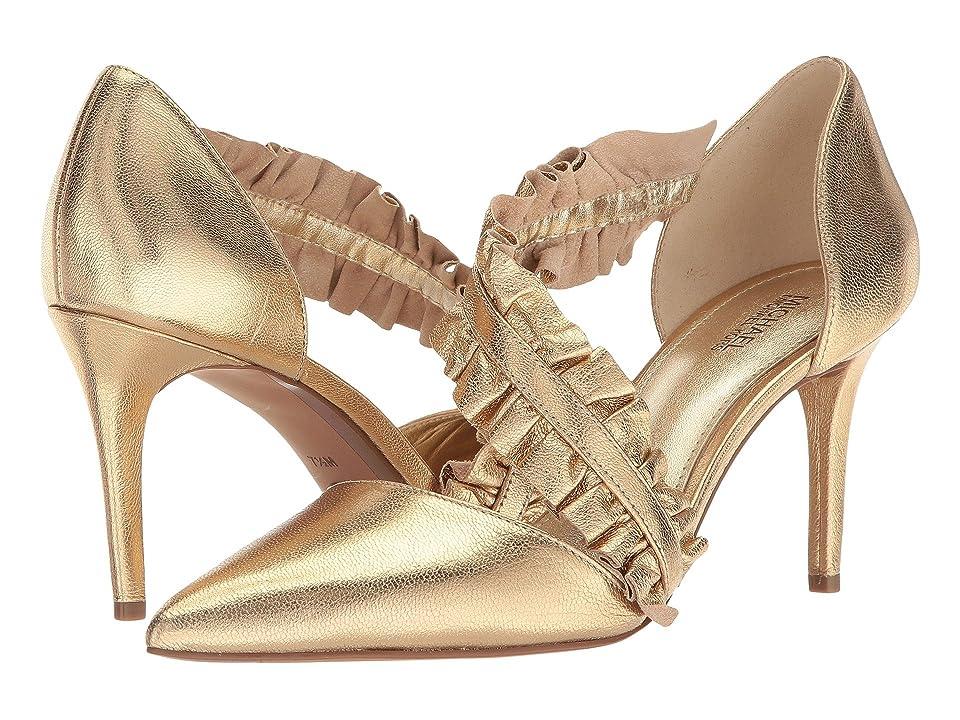 MICHAEL Michael Kors Bella Pump (Pale Gold Metallic Nappa) High Heels