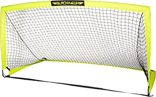 Franklin Sports Blackhawk Portable Soccer Goal - Pop-Up Soccer Goal and Net - Indoor or Outdoor Soccer Goal - Goal Folds For Storage - 12'x6', 9'x5.6', 6.5'x3.25