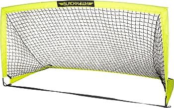 Franklin Sports Blackhawk Portable Soccer Goal - Pop-Up Soccer Goal and Net - Indoor or Outdoor Soccer Goal - Goal Folds For Storage - 12'x6', 9'x5.6', 6.6'x3.3' or 4'x3' Soccer Goal