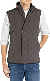Buttoned Down Amazon Brand Men's Water Repellant Quilted Vest, Brown XS