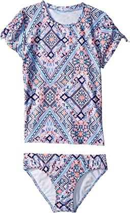 Seafolly Kids - Moonchild Short Sleeve Surf Set (Little Kids/Big Kids)