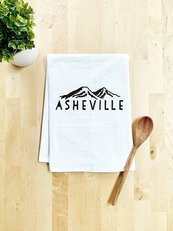 Sweet Dishcloth Tea Towel Asheville North Carolina Kitchen Cloth White