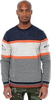 Ultra Game NFL Men's Fleece Sweatshirt Long Sleeve Shirt Block Stripe
