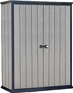 comprar comparacion Keter - Cobertizo de jardín exterior Duotech Hight Store, Color gris, 140 x 77 x 181.5 cm / 1500 L