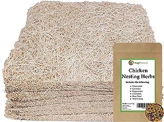 MagJo Pet Natural Aspen Shaving Nesting Liners (6 Pack with Nesting Herbs)