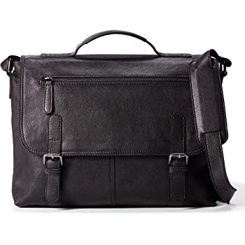 Leather Architect Mens 100/% Leather Cross Over Messenger Bag Black