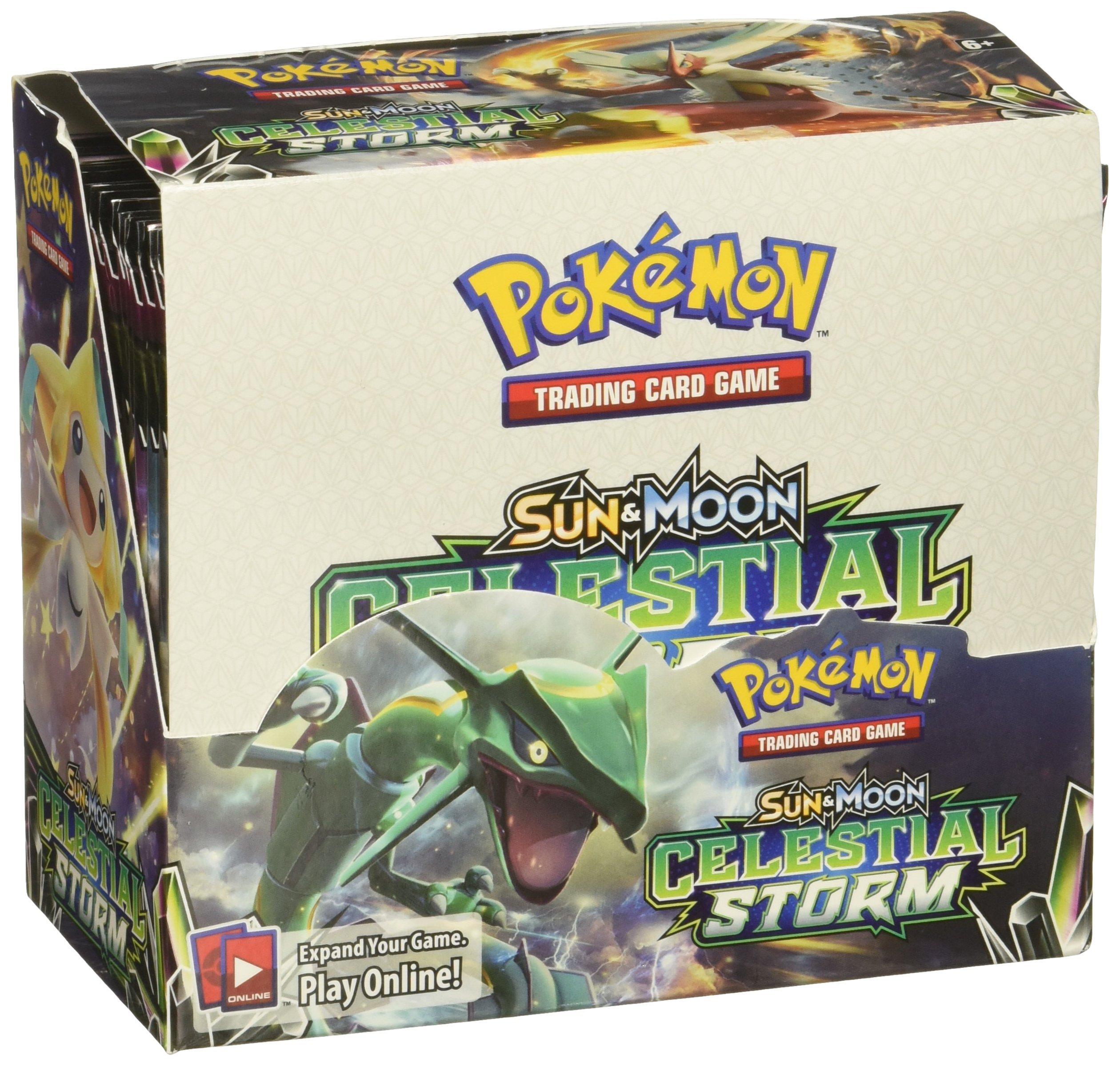 PoKéMoN POK81438 TCG: Sun and Moon 7 Celestial Storm Booster Box: Amazon.es: Juguetes y juegos