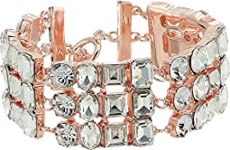 GUESS - Three-Row Stone Bracelet with Lobster Claw Closure