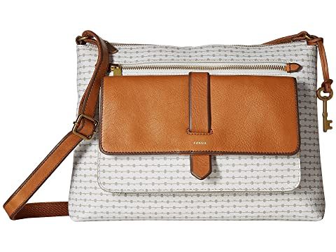 Clearance Collections Fossil Kinley Crossbody Grey Stripe Offer Free Shipping New Arrival 93FtA