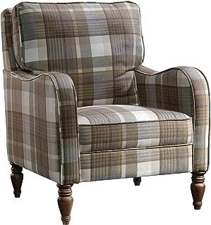 Sauder New Grange Accent Chair, Plaid finish