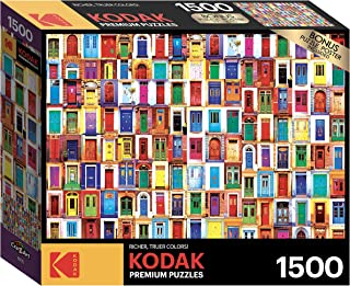 Kodak 1500 Pieces Puzzle Asst. Collage Of Ancient Colorful Doors From Around The World