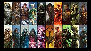 HiddenSupplies.com Planeswalkers Compatible with Magic The Gathering, Pokemon, Yugioh Playmat TCG Gaming Mat 24 x 14 Inch