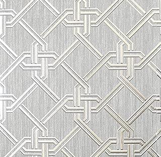 Arthouse Gianni Foil Silver Vinyl Wallpaper, Full Roll,