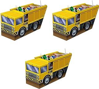 """Beistle 59975, 3 Piece 3-D Dump Truck Centerpieces, 5.25"""" x 10.5"""""""