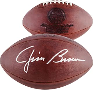Jim Brown Cleveland Browns Autographed Throwback Duke Pro Football - Fanatics Authentic Certified - Autographed Footballs