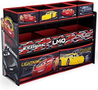 twin race car bed with toy box