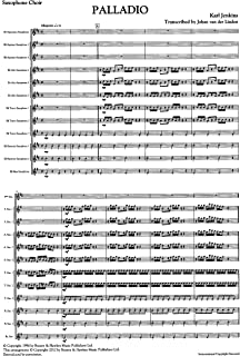 Palladio for Saxophone Choir by Karl Jenkins
