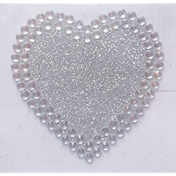 Heart Diamante Self-Adhesive Strips 15mm