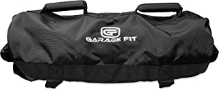 Garage Fit Sandbags for Fitness with Rubber Handles- Weighted Power Training- Heavy Duty Cordura Construction- 6 Rubber Gr...