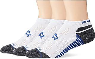 Starter mens Men's 3-Pack Athletic Microfiber Low-Cut Ankle Socks