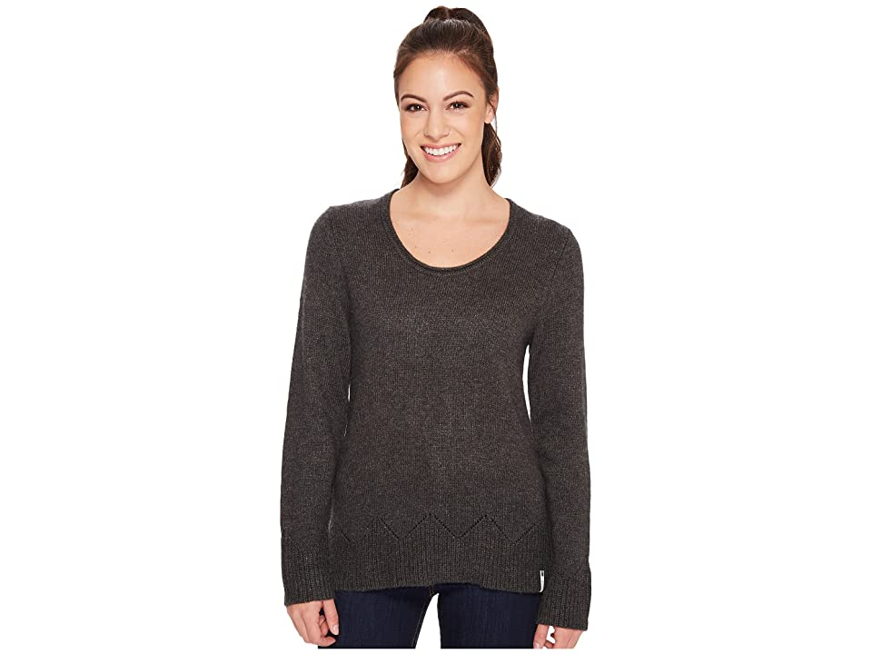 Woolrich Maple Way Crew (Charcoal Heather) Women