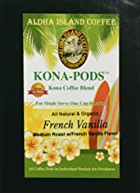 Senseo Pods of French Vanilla Flavored Kona Blend Coffee, 18 Pods, Reusable Pod Adapter is Available for Keurig K-cup Brewing Systems