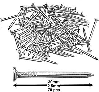 2.5 24 PK//BOX PLX00573 Total 168pcs Plextool Steel Nails 7pcs//PK Concrete and Brick