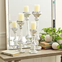 Deco 79 Glass Candle Holder, 21 by 17 by 12-Inch