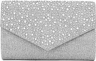 Women Evening Bag Clutch Rhinestone Envelope Party Handbag Bridal Prom Purse