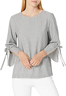 Calvin Klein Women's Long Sleeve Tie Blouse